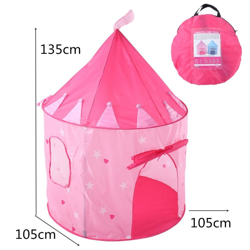 Children Castle Play Tent with Glow in The Dark Stars for Indoor & Outdoor Use