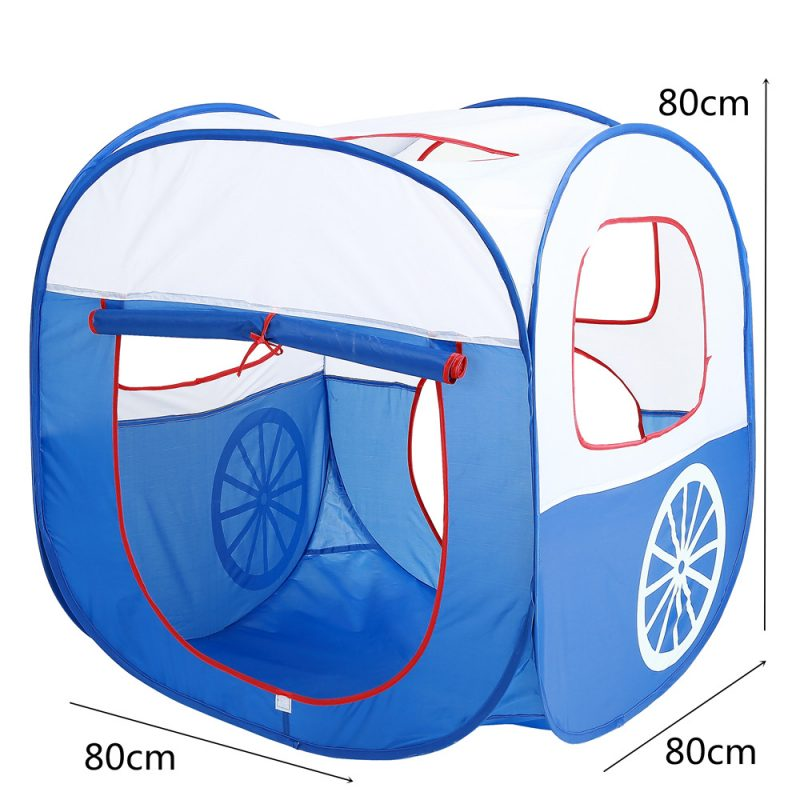 Train Pop Up Play Tent & Tunnel Kids Playhouse, Easily Install/ Fold for Indoor/ Outdoor Tent
